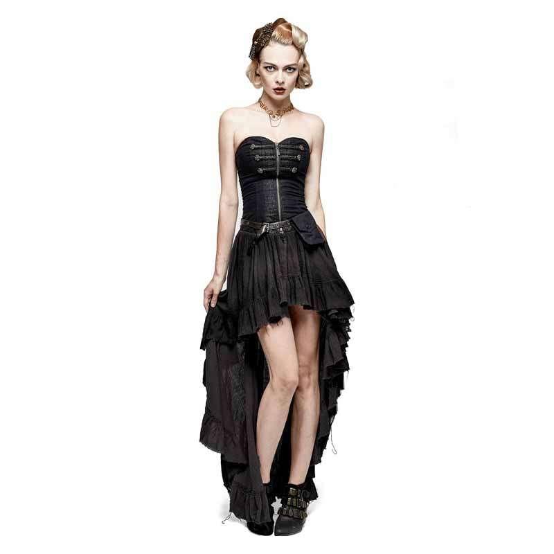 Corsagen Vokuhila Kleid im Gothic Vintage Look mit Tasche ...