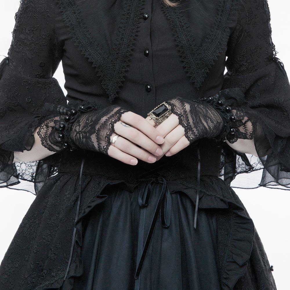 Viktorianische Handschuhe aus Spitze im Lolita Style   VOODOOMANIACS