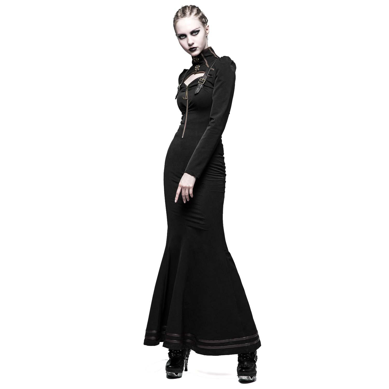 Lange kleider mit stehkragen