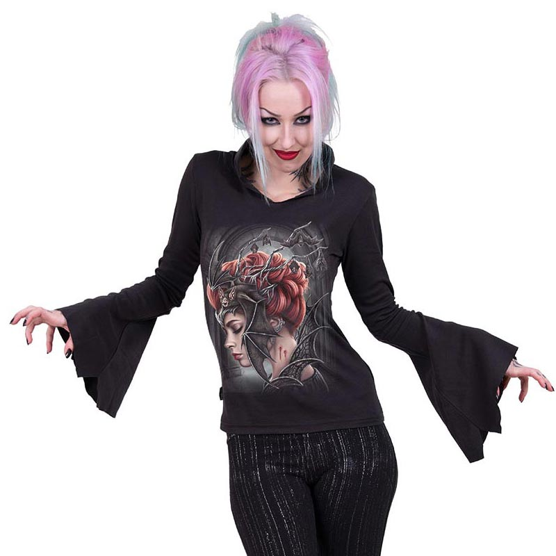 Gothic Fledermaus Shirt - Queen of the Night