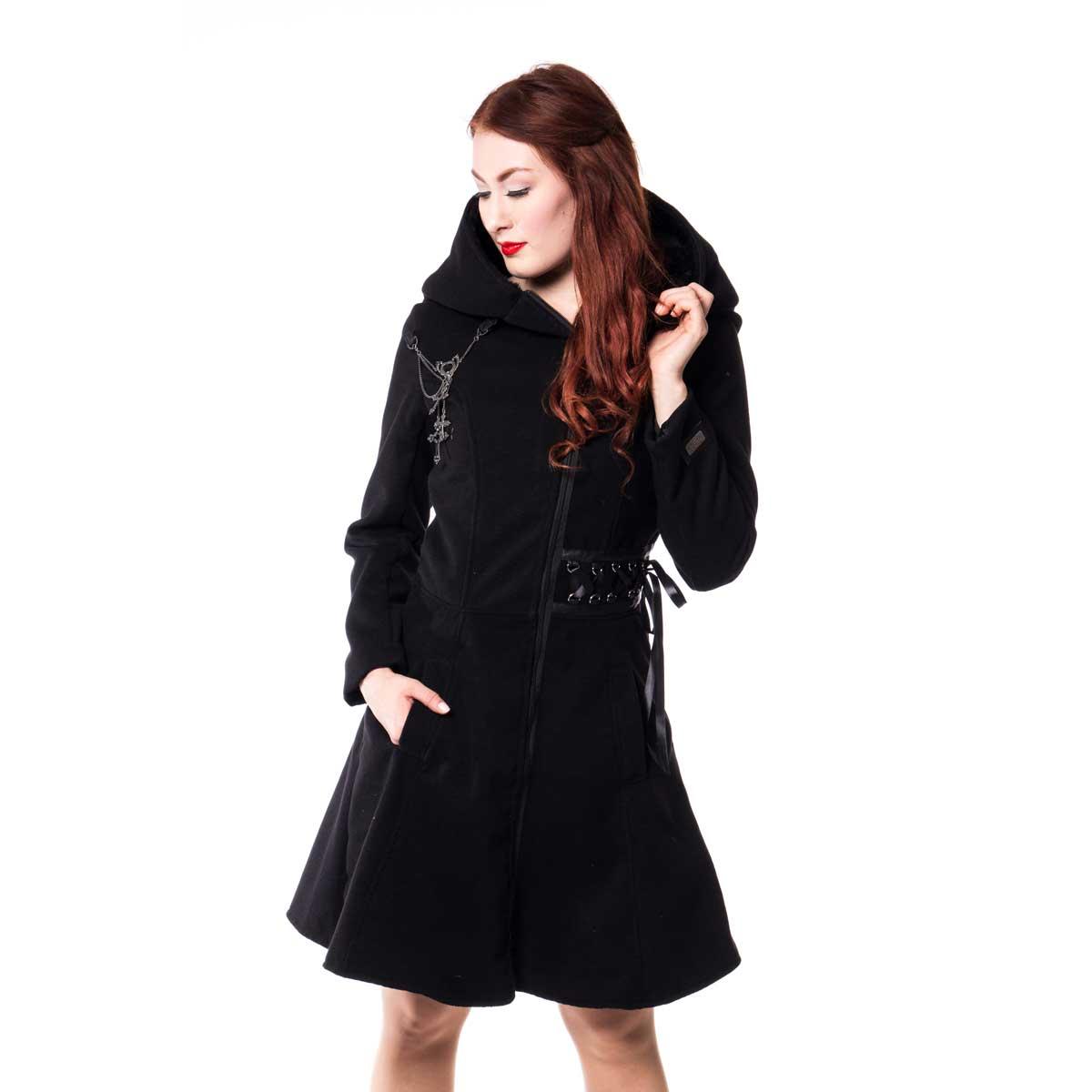 wintermantel mit grosser kapuze schn rung tears coat. Black Bedroom Furniture Sets. Home Design Ideas