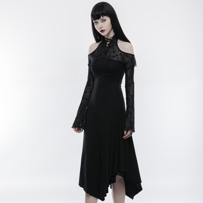 Cold Shoulder Maxikleid in mystischem Gothic Style