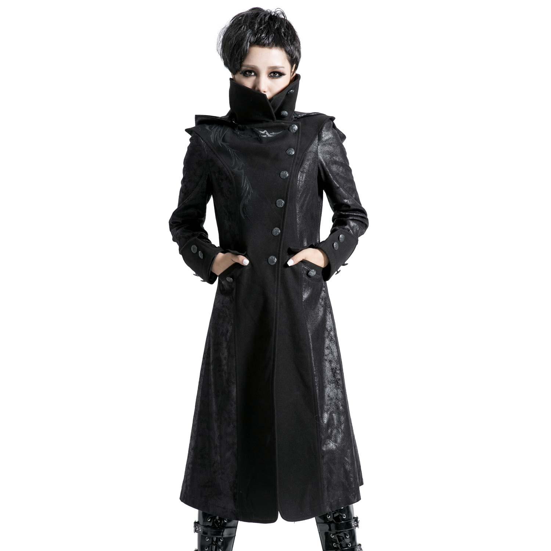 Mantel mit hohem Kragen, Zipfelkapuze und Tribals | VOODOOMANIACS